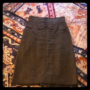 Corset grey tweed pencil skirt from Nanette Lepore
